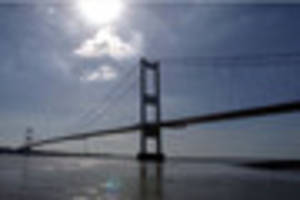 rescue boat crews on standby after emergency on old severn bridge