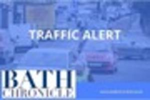 gridlocked traffic on the a36 lower bristol road in bath after...