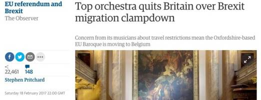fake news: european union baroque orchestra quitting uk over immigration