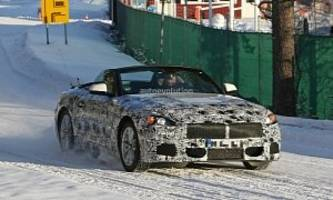 bmw z5 spied with top down for the first time, looks downright sexy
