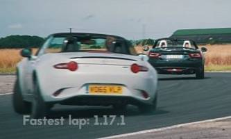 mazda mx-5 beats fiat 124 spider in track battle with more fun, faster lap