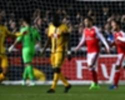 ghanaian duo fall with brave sutton to arsenal in fa cup