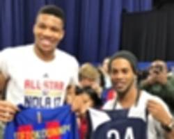 watch: ronaldinho meets nba all-stars