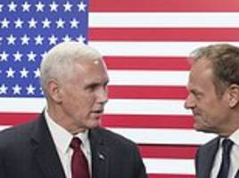 american flag has 51 stars for pence's brussels visit