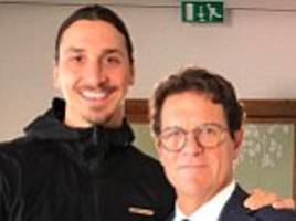 man utd's zlatan ibrahimovic posts snap with fabio capello