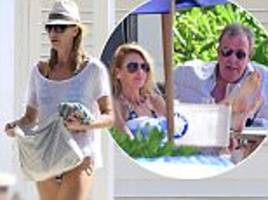 jeremy clarkson and girlfriend lisa hogan dine in barbados
