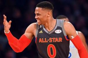 russell westbrook downplays kevin durant's alley-oop in awkward exchange with reporter