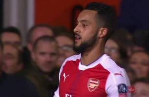 Theo Walcott scores his 100th goal for Arsenal | 2016-17 FA Cup Highlights