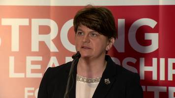 dup launches manifesto with 'sinn féin victory warning'
