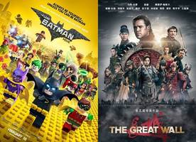'the lego batman movie' tops box office again, 'the great wall' humbly sits on no. 3