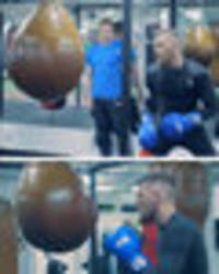 conor mcgregor in brutal boxing session with olympian as floyd mayweather superfight looms