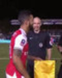 WATCH: Arsenal captain Theo Walcott embarrassed seconds before Sutton clash