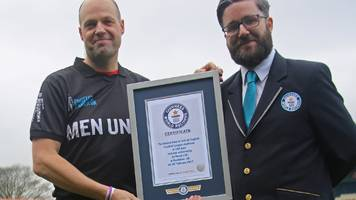 derby fan ed wood breaks the world record time for visiting every english league ground