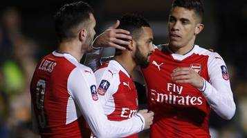 FA Cup: Theo Walcott scores 100th Arsenal goal
