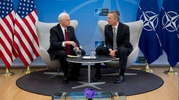 pence reaffirms commitment to nato but tells members to pay up