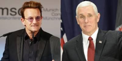 bono meets with mike pence, thanks him for aids relief support: watch