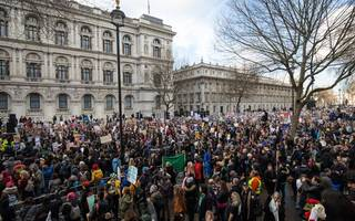 central london a no-go for commuters this evening due to anti-trump demo