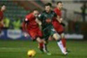 plymouth argyle's matt kennedy getting used to tough tackling...