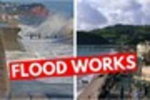 major £1.3m teignmouth sea defence works are about to begin...