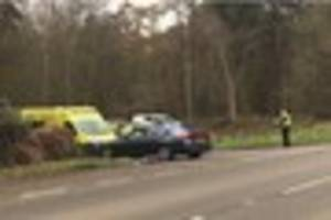 air ambulance and police called to collision near scunthorpe...