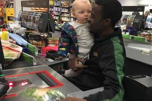 check out amazing m&s checkout operator who makes shopping trip special for restless toddler