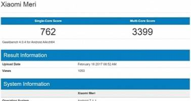 Xiaomi Mi 5c With Pinecone SoC and Android 7.1.1 Spotted in Benchmark