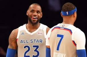 LeBron James shows off his Steph Curry-like range at the All-Star Game
