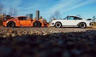 Artist Mixes LEGO Posche 911 GT3 RS, Real 911 in Amazing iPhone Perspective Pic