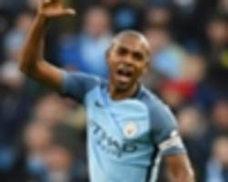 team news: fernandinho plays at left-back as aguero leads the line