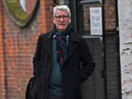 jeremy paxman spotted using the rear entrance of his house