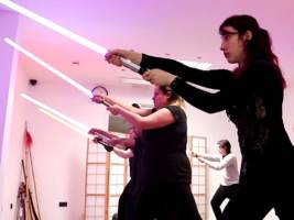 We tried a Star Wars-inspired martial arts class with actual lightsabers