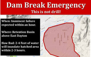 This Is Not A Drill Nevada Weather Service Warns Of Dam Failure Threat