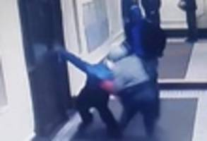 brutal beating of food deliveryman caught on video