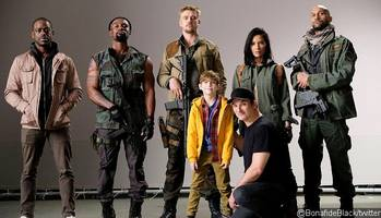 first photo of 'the predator' cast in costume unveiled