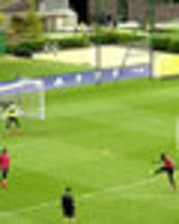 chelsea star bangs in the goals in training but it's not who you think
