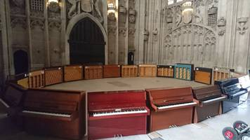 £50k piano giveaway after king's college chapel 'unison' concert