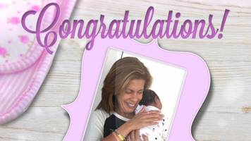hoda kotb makes an emotional baby announcement on the 'today' show