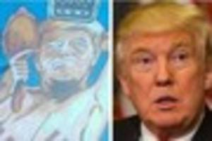 Mystery as 'rude' Donald Trump with boobs portrait  in Newland...