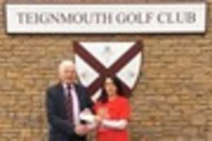 teignmouth golf club raises over £1,000 to help the british...