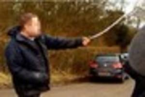 Shocking footage shows man swinging chain at anti hunt activists