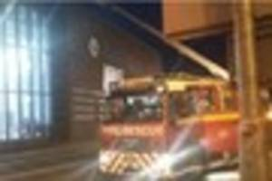 teams of firefighters tackle major blaze sweeping through leisure...
