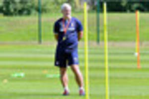 watch: stoke city players complete their final training session...
