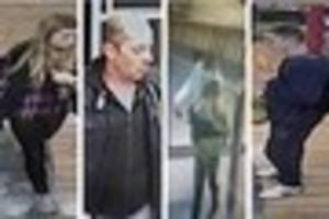Who are they? CCTV released after incidents at GL1, a Co-op...