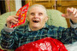 World's oldest man  with Down's syndrome celebrates 77th birthday...