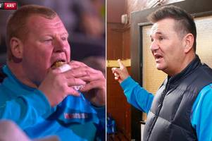 Sutton manager Paul Doswell hopes no players had a bet on Wayne Shaw eating a pie vs Arsenal