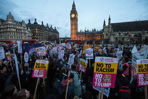british mps discuss to pour scorn on racist, sexist donald trump