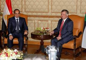 Egyptian, Jordanian leaders say two-state solution not up for compromise