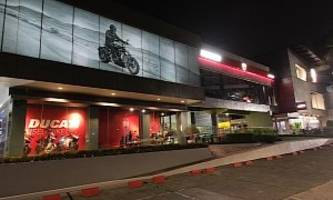 ever wondered where's the largest ducati showroom? no, it's not in italy