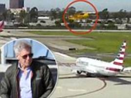 Footage shows Harrison Ford's near-miss in California