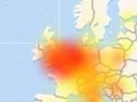 Users across Britain report problems with Facebook